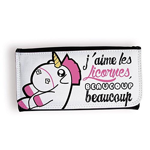 Porte-Feuille-long-Licence-officielle-Jaime-les-licornes-beaucoup-beaucoup-Licorne-chibi-et-kawaii-Fabriqu-en-France-Chamalow-Shop