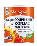 Léa Ligne Santé Soupe Coupe-faim au Konjac Pot de 300 g Lot de 2