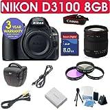 Nikon D3100 + Sigma 18-200mm Lens + 8GB Memory