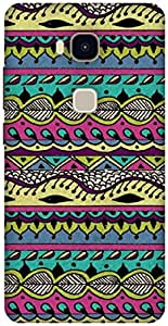 The Racoon Grip printed designer hard back mobile phone case cover for Huawei Honor 5X. (AZTEC MULT)