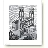 MCエッシャー滝 アートポスター