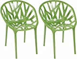 Mod Made Branch Chair, Green, Set of 2 thumbnail