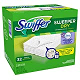 Swiffer Sweeper Dry Sweeping Pad Refills with Febreze Lavender Vanilla & Comfort Scent, 32 Count