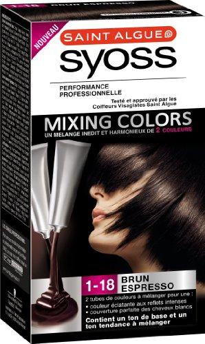 saint algue syoss mixing colors coloration permanente brun espresso 1 18 - Coloration Phmre
