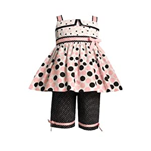 Amazon.com: Bonnie Jean Baby/Infant Girls 12M-24M 2-Piece PINK BROWN GRADED DOT CAPRI PANTS Wedding Flower Girl Easter Birthday Party Dress Outfit Set: Baby