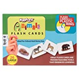Krazy Common Animals - Hindi Flash Cards With Ring