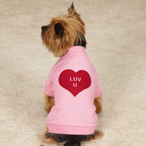Small/Medium Valentine's Day Love U Dog Tee