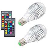 SZXKT 10W RGB Color Changing Light Bulbs LED Dimmable Lamp with Remote Control E26