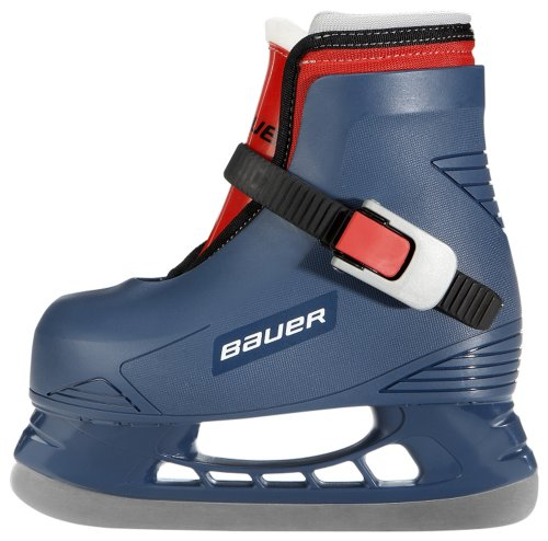 Toddler Ice Skates: Lil Champ-Blue-Youth 6/7 (Bauer Lil Champ Skates compare prices)