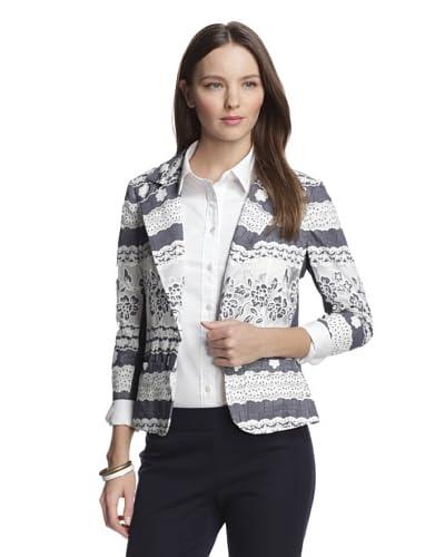 Muse Women's Denim Lace One Button Jacket