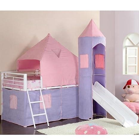 460279 Castle Style Bunks Twin Loft Bed by