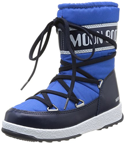 Moon Boot by Tecnica WE Sport Mid Jr 34050600004 Kinder Moonboots, hellblau/navy, Gr. 32 EU / 13 UK C