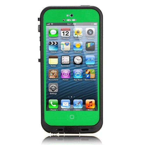 No brand iPhone5 5s 防水・防塵・防雪・耐衝撃のスーパーケース スーパースリム耐衝撃保護ケース アイフォン5 5s用 グリーン