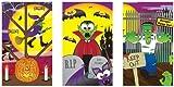 12 x spooky Halloween Libretas Mini truco de tratar bolsa fiesta juguetes