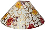 "13"" Round Cream with Golden Polka Dots Flower Design Lamp Shade for Table or Floor Lamp"