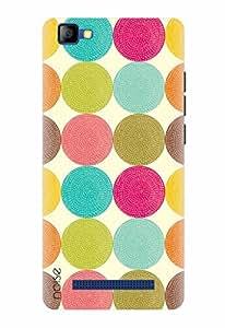 Noise Designer Printed Case / Cover for LYF FLAME 8 / Patterns & Ethnic / Colored Polka Design