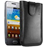 mumbi ECHT Ledertasche Samsung Galaxy S Advance Tasche (Lasche mit Rckzugfunktion) schwarzvon &#34;mumbi&#34;