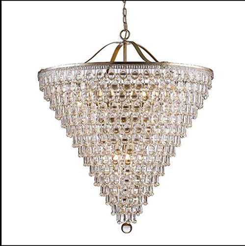 L&QQ American - style crystal chandelier European retro round iron , 220-240v , 65cm