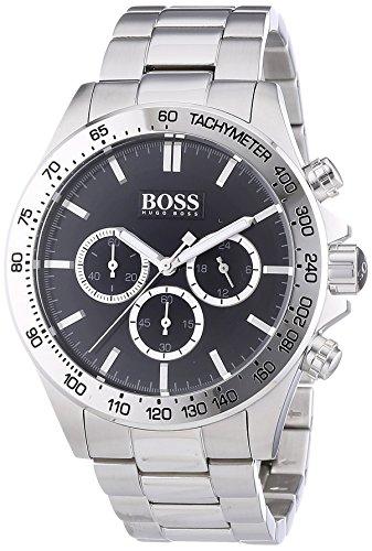 Hugo-Boss-Herren-Armbanduhr-Chronograph-Quarz-Edelstahl-1512965
