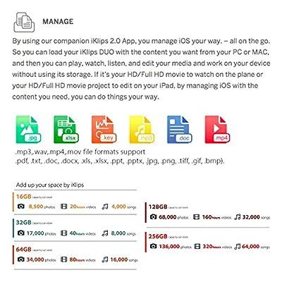 iKlips MFI Certified Lightning and USB 3.0 Flash Drive Memory Stick Storage Device Hard Disk 128GB Rose Gold for iPhone 5/5s/5c, 6, 6 Plus, 6s, 6s Plus,iPad Air,iPad mini 2/3/4, Mac PC HK663