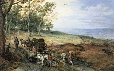 feelingathome-image-printed-on-canvas-100cotton-a-wooded-landscape-with-travelers-cm48x77-artwork-st