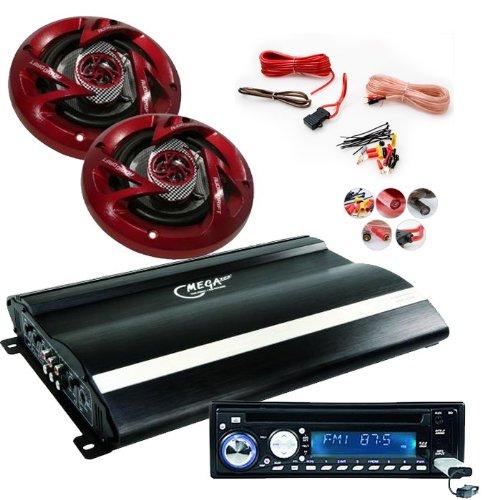 2400W CAR Set Radio Endstufe Lautsprecher CAR-62