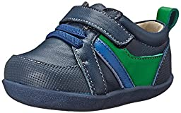 See Kai Run Olaf Leather trainer (Infant/Toddler), Navy, 3 M US Infant