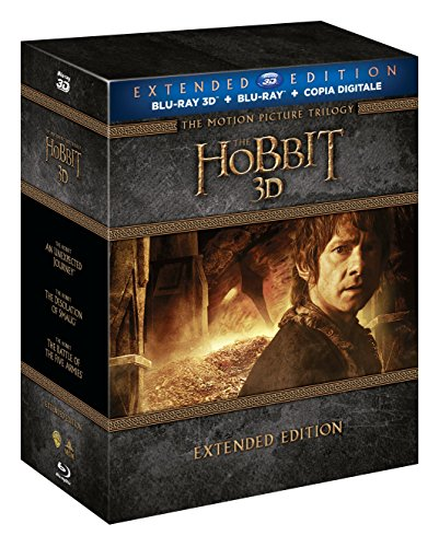 Lo Hobbit - La Trilogia (3D) (Extended Edition) (6 Blu-Ray 3D+9 Blu-Ray + Copia Digitale)