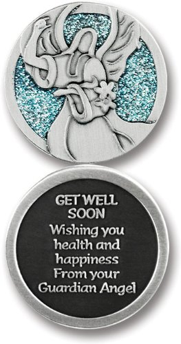 Cathedral Art PT643 Get Well Companion Unique Decorative Coin, 1-1/4-Inch