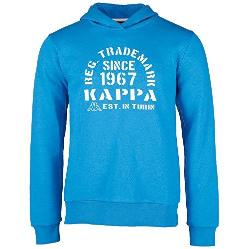 Kappa, Felpa con cappuccio Bambino Tilo, Blu (Blue Aster), 128 cm