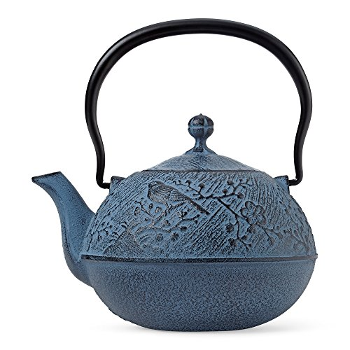 Big Save! Blue Maromi Bird Cast Iron Teapot by Teavana