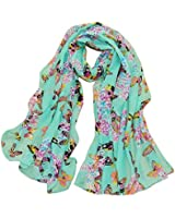 Womdee Women Fashion Butterfly Print Chic Elegant Long Scarf Wrap With Womdee Accessory