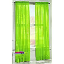 S. Lichtenberg 59 by 84-Inch Calypso Curtain Panel Lime