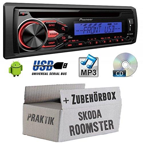 Skoda Roomster & pratique-Pioneer deh1800ubb-Kit de montage autoradio CD/MP3/USB -