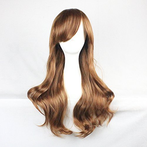 Womens Ladies Girls 70cm Orange/ginger Color Long Curly Wigs Hair Carve Cosplay Costume Anime Party Bangs Full Sexy (Long Ginger Wig)
