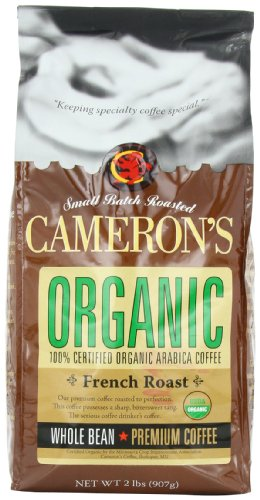 Cameron's Organic French Roast Whole Bean Coffee,