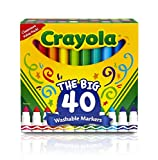 Crayola 58-7858 Crayola 40 ct Broad Line Ultra-Clean Washable Markers Toy