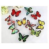 6 PCS Creative Flashing Colorful Butterfly Night Light Stickers Light Indoor lighting Decorations Random (6PCS)
