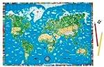 Illustrierte Weltkarte f�r Kinder und...