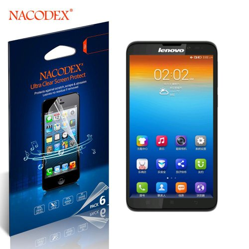 Nacodex® 6X Hd Clear Screen Protector Film For Lenovo S939 6Pcs Six Lcd Cover Guard Shield [ 6Pcs Screen Protectors + 2X Cleaning Cloth + 1X Smoothing Card] [ W/Tracking No.]