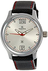 Maxima Attivo Analog Silver Dial Mens Watch - 24060LMGI