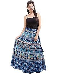 Jaipur Skirt Women's Cotton Wrap Skirt - B01F5OI1LK
