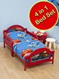 Disney Cars 2 -'Espionage 2' Children's Junior Bedding Set First Toddler, Junior & Cot Bed Includes 1 x Junior Quilt, 1 x pillow & 1 x Duvet Set