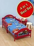 Disney Cars 2 -'Espionage 2' Children's Junior Bedding Set First Toddler, Junior & Cot Bed Includes 1 x Junior Quilt, 1 x pillow & 1 x Duvet Set