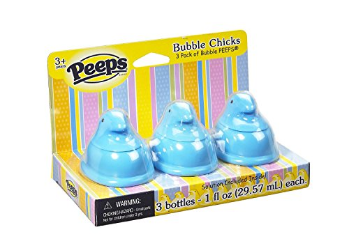 Little Kids Peeps Bubble Chicks Light Blue - Pack of 3 - 1
