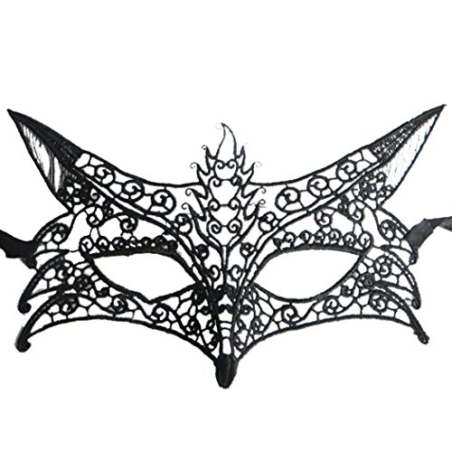 Fox Shape Hollow Out Lace Halloween Evening Party Prom Masquerade Mask