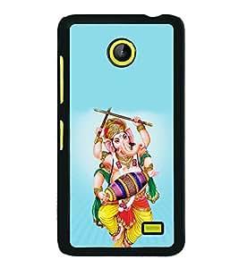 Ganpati 2D Hard Polycarbonate Designer Back Case Cover for Nokia X :: Nokia Normandy :: Nokia A110 :: Nokia X Dual SIM RM-980 with dual-SIM card slots
