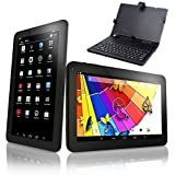 10'' ZOLL QUAD CORE HD 32 GB TABLET PC ANDROID 4.4 KITKAT WIFI BT 3G (extern) WLAN USB SD KAMERA + Tasche + Tastatur
