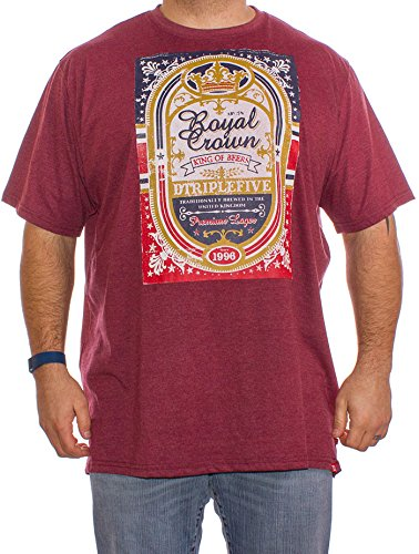 big-mens-d555-roderick-triple-crown-beer-logo-t-shirt-in-burgungy-3xl-4xl-5xl-6xl