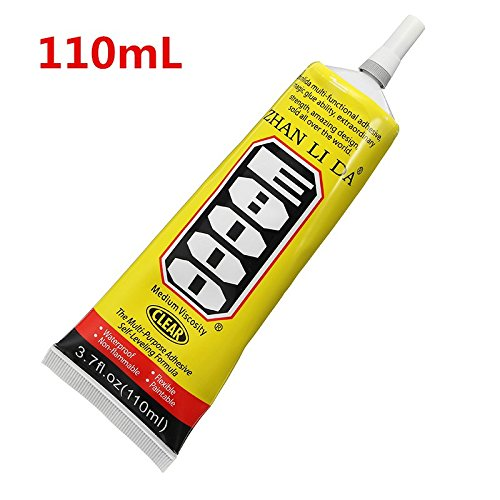 Hitommy E8000 Glue Multi Purpose Clear Self Leveling Acrylic Adhesive Shoes Jewelry DIY Crafts Phone Screen - 110ml (Color: 110ml)